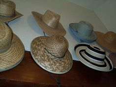Hanging your hats on the wall can make for a neat decorative solution to hat storage.