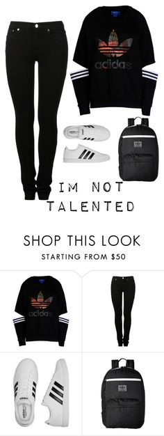 """""""regan school outfit"""" by decafcupcakes ❤ liked on Polyvore featuring adidas Originals, MM6 Maison Margiela and adidas"""
