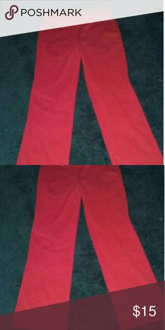 Red pants Cute red stretchy pants in good condition size s. Vintage. Pants Trousers