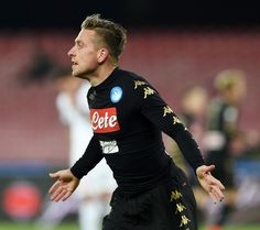 Emanuele Giaccherini of Napoli celebrates after scoring goal 2-1 during the TIM Cup match between SSC Napoli and AC Spezia at Stadio San Paolo on January 10, 2017 in Naples, Italy.