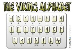 Rune writing alphabet game