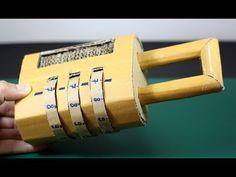 [LXG239] DIY Combination Password Lock using Cardboard - YouTube