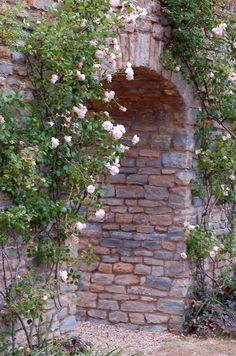 I have no idea where this rose framed stone archway leads, but I want to go ... (via whimsicalraindropcottage)