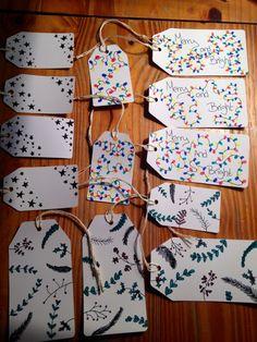 Hand drawn gift tags