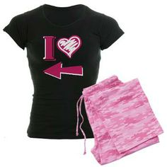 I heart - Pink Arrow Pajamas