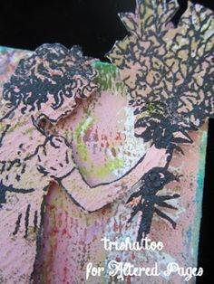 AlteredPages Artsociates: flowers for Mother's Day--a tiny canvas