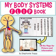 Human Body Systems Flip Book - This super cute body systems book is a great way for students to finish up a unit on the body systems. Students fill in the blank about each system and have a cool booklet to summarize what they have learned.