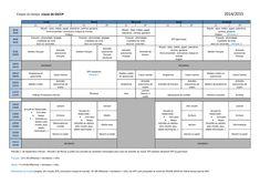 Un emploi du temps de GS/CP conforme aux nouveaux rythmes scolaires.