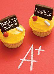 Blackboard cupcakes