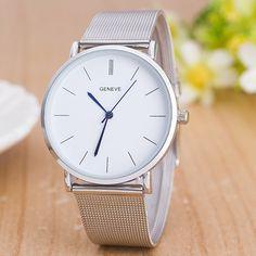 Vintage Business Quartz Watch - Silver
