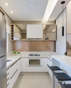 "8,576 Likes, 64 Comments - Home•decor•arq•house•int•casa (@_homeidea) on Instagram: ""Cozinha compacta e linda via @decoramundo! Amei! Foto @fellipelima.fotografia Projeto Unna…"""