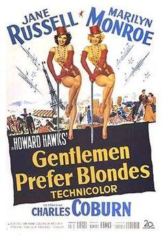Carteles de películas antiguas gentlemen prefer blondes
