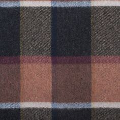 Italian Tri-Color Plaid Wool Blended Coating
