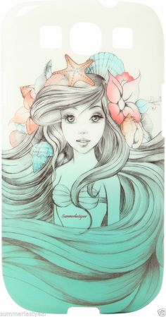 ARIEL.THE LITTLE MERMAID SKETCH PHONE CASE FOR GALAXY S3 FREE SHIPPING