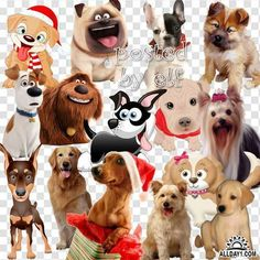 Клипарт на прозрачном фоне в png - Собака – символ 2018 года