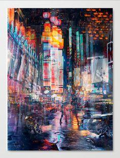 """""""Times Square"""" von S. Jung - Onlineshop für exklusive Kunstwerke.#galerieartefactum #kunst #art #interior #kunst_für_gescahäftsräume #photo #cities #StephanieJung"""