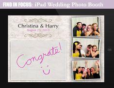 iPad wedding photo booth