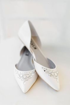 Elegant White Wedding Shoes ❤ See more: http://www.weddingforward.com/white-wedding-shoes/ #weddings
