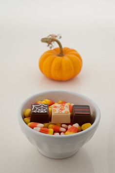 Trick or treat. Spook your taste buds with these classics. This collection includes caramel, candy corn, and peanut butter.