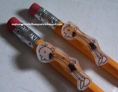 pencils embellished with shrinky dink charms (for a birthday party)
