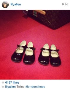 Lily Allen buys Start-rite 'Caty' shoes in Black Patent for her daughters.