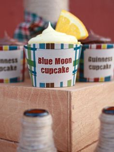 birthday, cupcakes, parties, tast parti, beer tasting, moon cupcak, blue moon, blues, dessert