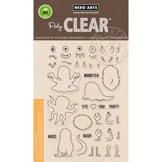 Hero Arts Clear Stamps Mix & Match Monsters   Blitsy