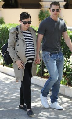 Pregnant Ginnifer Goodwin & Josh Dallas Out For Lunch in Beverly Hills