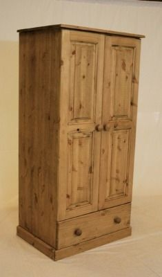 Great if you need a narrow wardrobe with a drawer. Furniture, Drawers, Pine Furniture, Tall Cabinet Storage, Home Decor, Space Saving Furniture, Oak, Narrow Wardrobe, Doors