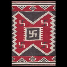 #antique #Navajo #rug. Stock Id: #23092 General Rug Type:      American Specific Rug Type:      Navajo Circa: 1920 Color: Red Origin: USA Width: 5' 0'' ( 152.4 cm ) Length: 7' 0'' ( 213.4 cm )
