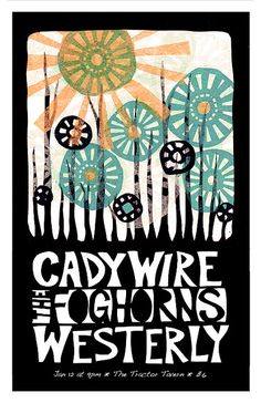 Paper cut concert poster design by ruralpearl, via Flickr