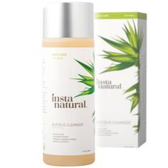 InstaNatural's deep cleansing Glycolic Cleanser uses the exfoliating benefits of Glycolic Acid to break down dulling build up, helping to soften and brighten the skin. Infused with natural calming extracts and collagen supporting Arginine, this cleanser helps reduce the appearance of pores, signs of aging and discoloration.