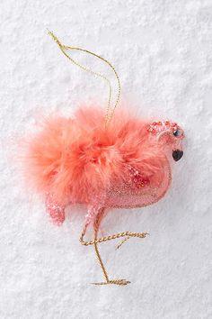 Plumed Flamingo Ornament