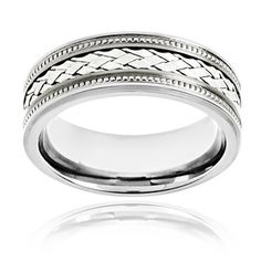 @Overstock.com - Crucible Titanium Sterling Silver Woven Lattice Pattern Inlay Ring - Crucible Lattice ringTitanium JewelryClick here for ring sizing guide  http://www.overstock.com/Jewelry-Watches/Crucible-Titanium-Sterling-Silver-Woven-Lattice-Pattern-Inlay-Ring/8297495/product.html?CID=214117 $43.99