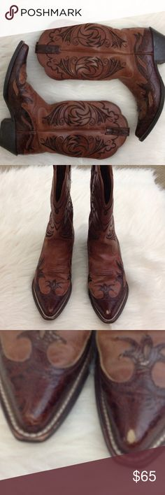 🏇🏻NWOT Size 7.5 Ariat Gorgeous Boots🏇🏻 Never Worn Ariat Size 7.5 Ladies Boots. There is a scratch on the left toe that  could just get a touch up. Otherwise these are brand new, no wear on soles or heels. Ariat Shoes Heeled Boots