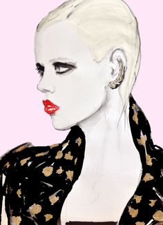 Beautiful fashion illustration by the talented FIONA MCLEAN