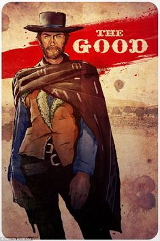 Timothy Anderson designed a set of three posters for his homage to 1966 western The Good, The Bad and The Ugly
