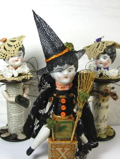"Witch ""Spell Binder""  Assemblage Art Doll"