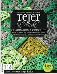 Crochet and arts: Tejer la Moda 116 Crochet Blocks, Crochet Squares, Crochet Granny, Crochet Motif, Irish Crochet, Crochet Hats, Granny Squares, Crochet Magazine, Knitting Magazine