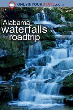 Travel | Alabama | Attractions | USA | Things To Do | Road Trips | Natural Beauty | Waterfalls | Waterfall Road Trip | Alabama Road Trips | Places To Visit | Day Trips | DeSoto Falls | High Falls | Natural Wonders | Bucket List | Alabama Waterfalls