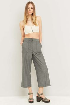 Urban Outfitters Grey Herringbone Carpenter Trousers