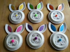 Paper Plate Crafts, Paper Plates, Happy Easter, Easter Bunny, Easter Crafts For Kids, Diy And Crafts, Projects To Try, Manet, Cool Stuff