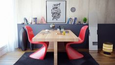 Black red dining room table office