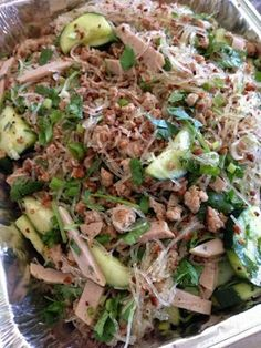 Phanessa's Kitchen: Vermicelli noodle salad with crispy pork