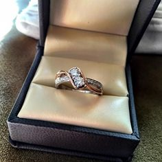 We had to take a picture of this popular Curved Two Stone Ring before shipping it out to our valued customer!  Check out our one of a kind selection of Two Stone Diamond Rings at https://amouria.com/rings/two-stone-rings.html