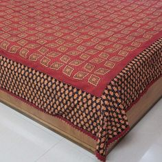 Amazon.com: Bed Cover Indian Decor Queen Block Print Cotton Handcrafted by Artisan 86 x 96 Inches: Home & Kitchen