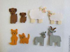 Купить Домашние животные из фетра - развивающая игрушка, развивающие игрушки, игрушки из фетра, фетровая игрушка