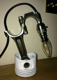 Piston Lamp, Steampunk, Man Cave, Office, Bar, Engine Lamp, Up Cycle, Christmas | eBay
