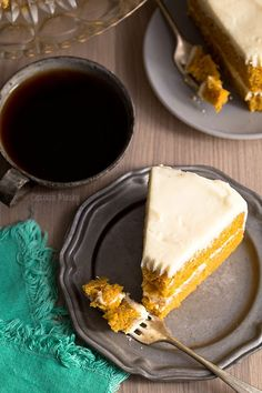 This two layer Pumpkin Layer Cake with Cream Cheese Frosting is made all from scratch and stays incredibly moist and flavorful, even a few days later. Fall Baking, Holiday Baking, Pumpkin Recipes, Fall Recipes, Holiday Recipes, Best Dessert Recipes, Delicious Desserts, Cake Recipes From Scratch, Creative Desserts