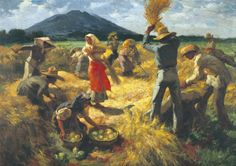 Working in the field Fernando Amorsolo Philippine Architecture, Art And Architecture, Fields In Arts, Filipino Art, Filipino Culture, Philippine Art, Philippines Culture, Drawing Projects, Paintings I Love